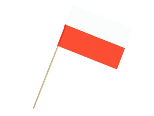 FLAGA KIBICA POLSKA PAPIEROWA BIAŁO-CZERWONA