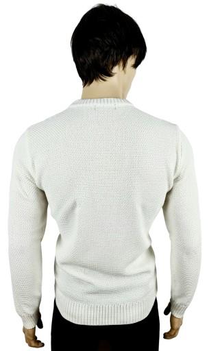 sweter pÓłgolf bawełna PRODUKT POLSKI biały XXL 10015413060 Odzież Męska Swetry IO TBFGIO-6