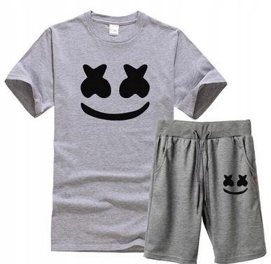 Męski Letni Komplet Marshmello Spodenki + T-shirt 10686793193 Odzież Męska Komplety HN YCQEHN-5