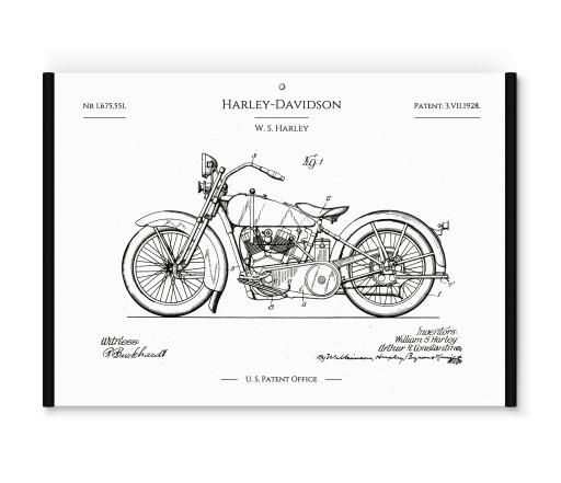 Obrazy plakaty na ścianę dla motocyklisty vintage