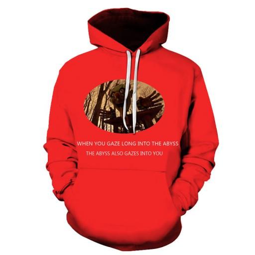 eter z kapturem z nadrukiem cyfrowym Sweter męski 9813486991 Odzież Męska Swetry KE QJZHKE-1