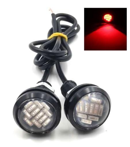 2x RED THIRD BRAKE LIGHT 12 LED LOOP EAGLE EYE