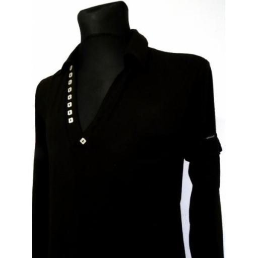 MARKOWA BLUZKA MĘSKA CZARNA L KLASYCZNA 10556404212 Odzież Męska Koszulki z długim rękawem XL OWSIXL-3