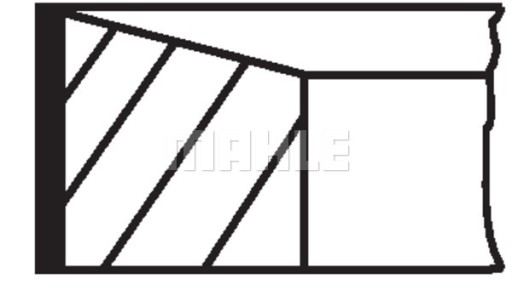 PISTON RING MAHLE 007 RS 00150 0N0