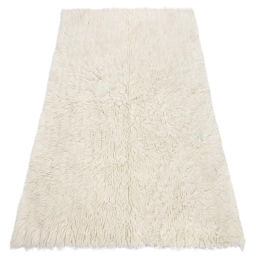 FLOKATI wełniane białe/krem 130x150 cm #FL001