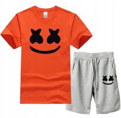 Męski Letni Komplet Marshmello Spodenki + T-shirt 10741320041 Odzież Męska Komplety EV KHIREV-8