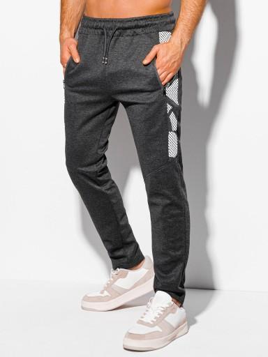 Spodnie męskie dresowe 1044P grafitowe L 10604752529 Odzież Męska Spodnie YF ANISYF-5