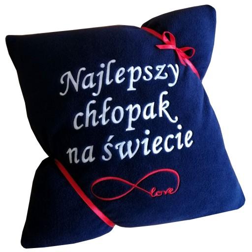 Poduszka Z Napis Prezent Walentynki Chlopak Niego 7798591074 Allegro Pl