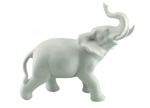 Bialy Porcelanowy Slon Na Szczescie Na Urodziny 9346704262 Allegro Pl