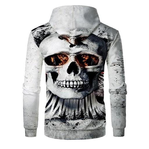 kapturem z nadrukiem cyfrowym Skull Sweter męski 10658446836 Odzież Męska Swetry GT PZWYGT-7