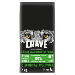 CRAVE - sucha karma 7kg z jagnięciną i wołowiną