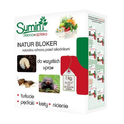 Natur Bloker p/ turkuć drutowce nicienie, krety1kg