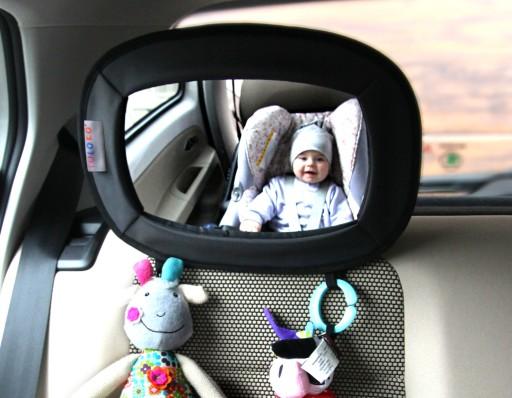 TULOKO Lusterko Podróżnika z uchwytami na zabawki