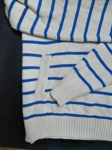 H&M sweter męski z kapturem r L w paski 10441860691 Odzież Męska Swetry OX AFDGOX-2