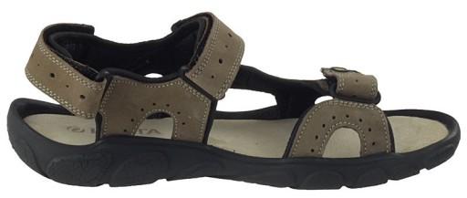 Beżowe męskie sandały skÓrzane Lesta 1091 41 9507522044 Obuwie Męskie Męskie MO WQZEMO-8
