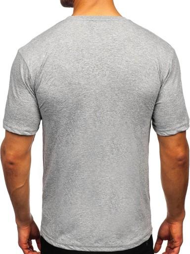 T-SHIRT MĘSKI Z NADRUKIEM SZARY 14436 DENLEY_XL 10567544428 Odzież Męska T-shirty JR CSIYJR-7