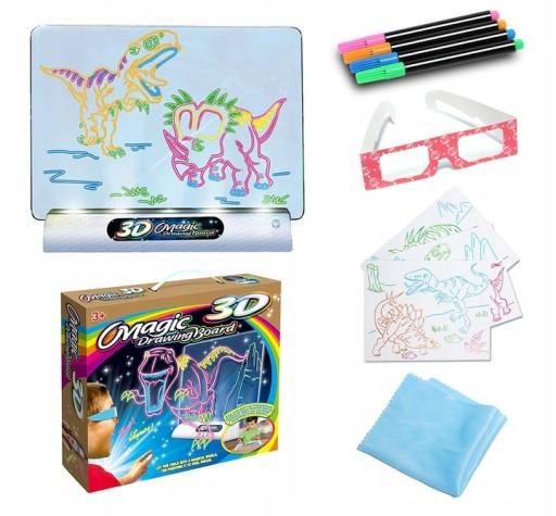Magiczna Tablica 3d Do Rysowania Dla Dzieci 9239221373 Allegro Pl
