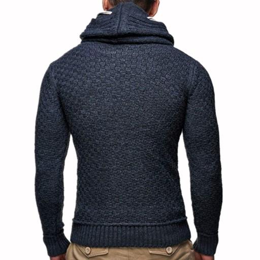 ze stÓjką Sweter z dzianiny twist Dzianina męska 10611113253 Odzież Męska Swetry RV NXIJRV-8