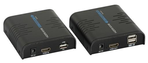 Konwerter HDMI na IP + przedłużacz USB 100m SIGNAL
