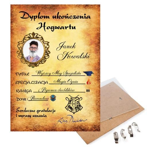 Prezent Na Urodziny Dyplom Harry Potter Hogwart 9271832905 Allegro Pl