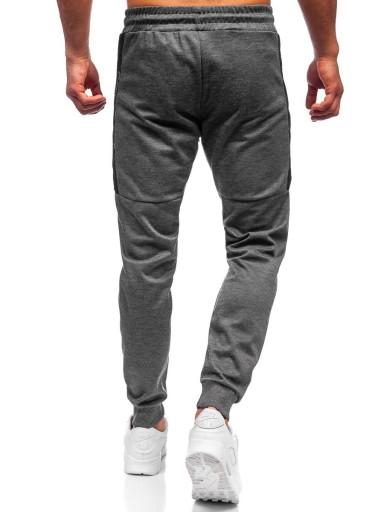 SPODNIE MĘSKIE DRESOWE GRAFITOWE JX8580 DENLEY_M 10426983373 Odzież Męska Spodnie LF JKWLLF-3