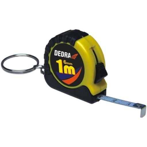 DEDRA M311.103 Breloczek mini miarka 1 m 6 mm