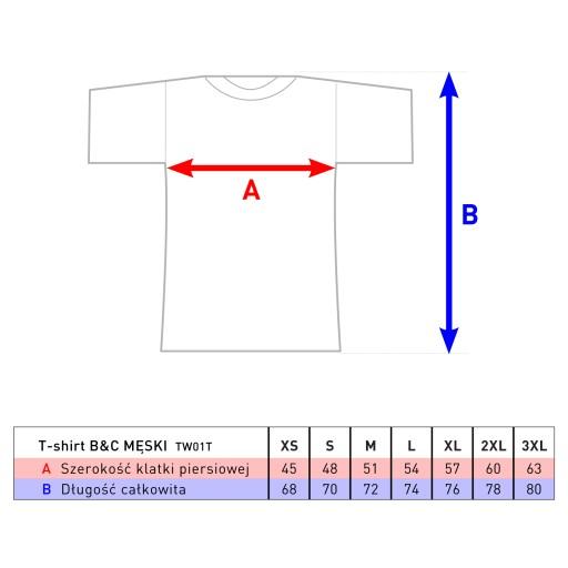 T-shirt męski z grafiką – prasowanka A4, roz. L 10132809820 Odzież Męska T-shirty WO PJLYWO-5