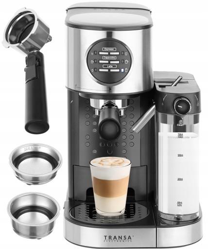 CIŚNIENIOWY ekspres do kawy 1470W 15bar Spieniacz