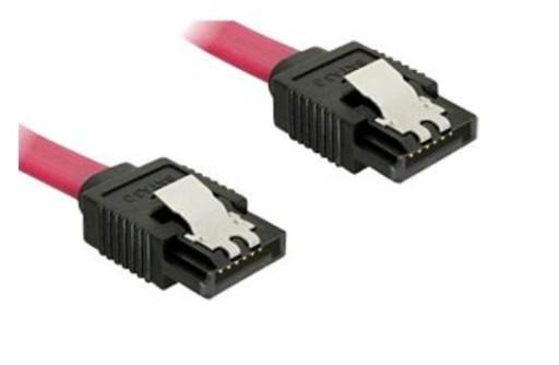 Kabel Serial ATA płaski 50 cm, metalowe zatrzaski