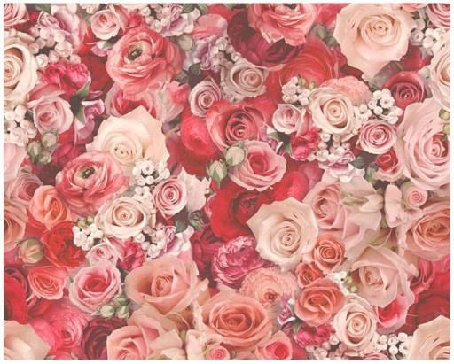 Tapeta winylowa róże kwiaty tapety na ścianę