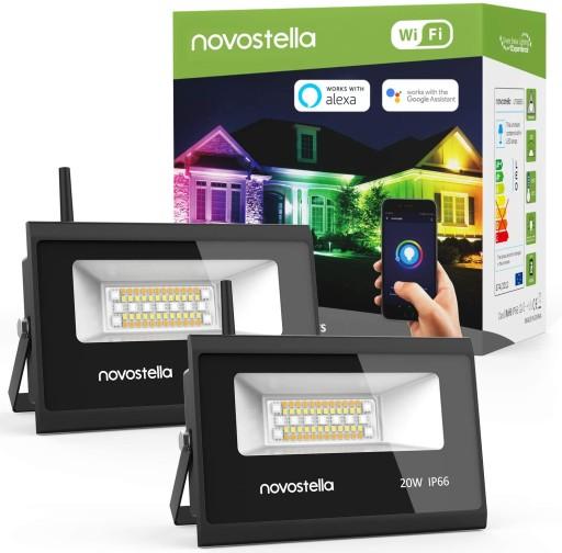 Reflektor zewnętrzny oświetlenie domu RGB LED WIFI