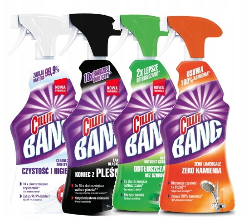 Cillit Bang Spray do kuchni łazienki zestaw 4 szt