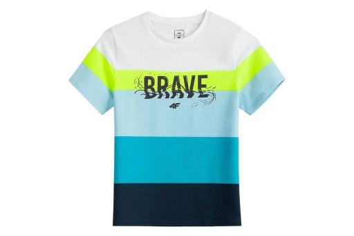 4F T-shirt CHŁOPIĘCY Koszulka JTSM017 > 164