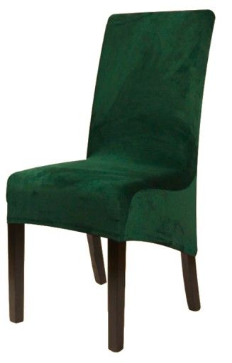 Pokrowiec Na Krzeslo Xl Butelkowa Zielen Welur 9441573181 Allegro Pl