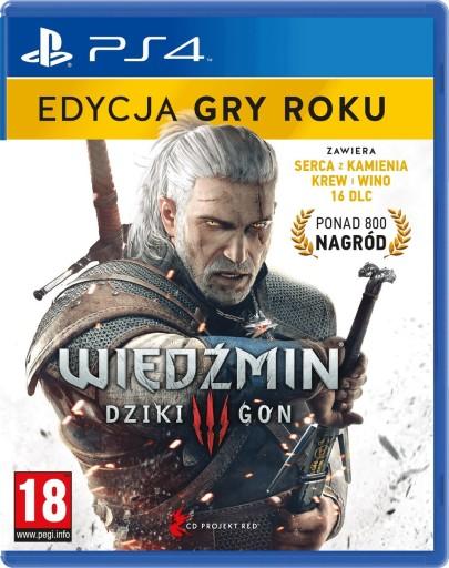 GRA PS4 WIEDŹMIN 3: DZIKI GON - EDYCJA GRY ROKU
