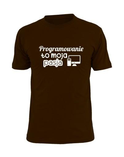programowanie to moja pasja koszulki programistÓw 10651078520 Odzież Męska T-shirty MB TYOLMB-3