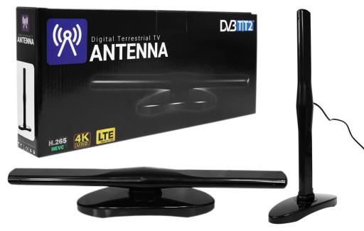 ANTENA TV POKOJOWA DVB-T DVB-T2 DAB FM VHF UHF