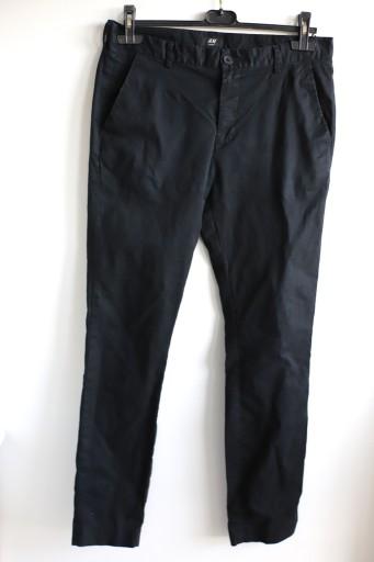 H&M 34 L spodnie rurki czarne 10770550989 Odzież Męska Spodnie GP TNODGP-7