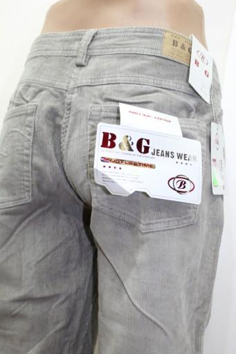 Spodnie Sztruksy Bawełna B&G JEANS beżowe r 36 10030560023 Odzież Męska Spodnie YF JWXJYF-5