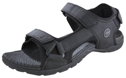 Sandały trekkingowe, kolor czarny, rozmiar 45 10619408865 Obuwie Męskie Męskie WJ HBBKWJ-4