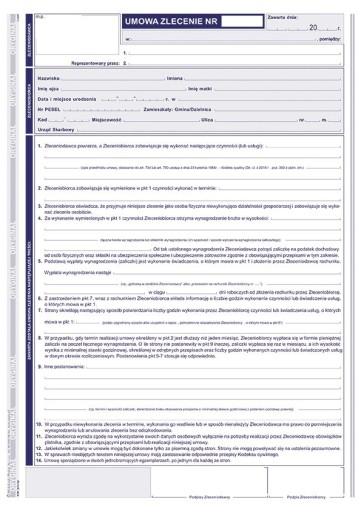 Umowa Zlecenie Druk A4 Nowy Wzor 6663650162 Allegro Pl