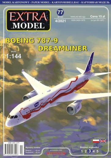 EXTRA MODEL_Boeing 787-9 Dreamliner 100 Lat Niepod