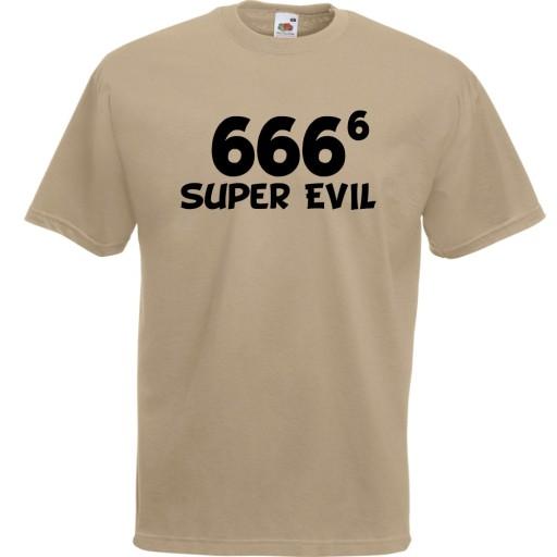 Koszulka śmieszna 666 evil diabeł prezent XL 9703986437 Odzież Męska T-shirty RU QWSSRU-2