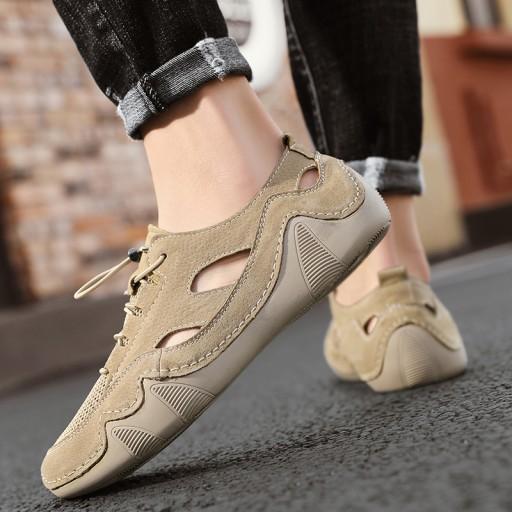 Sandały buty turystyczne męskie skorzane na lato 10548948517 Obuwie Męskie Męskie XL SEQKXL-2