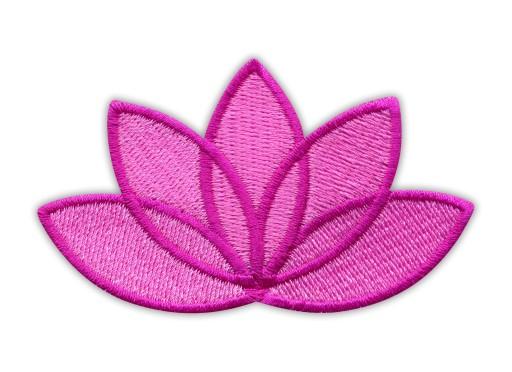 Naszywka Kwiat Lotosu różowy - ciemno różowa ramka