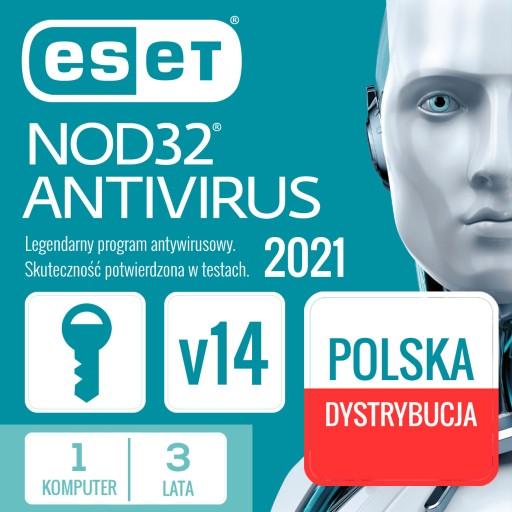 Antywirus ESET NOD32 1 szt. 3 lata nowa