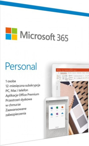 Microsoft MS Office 365 Personal 12m Word Excel PC