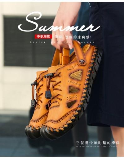 Baotou prawdziwa skÓra Męskie buty sandały r.48 10675707258 Obuwie Męskie Męskie AA QGIAAA-4