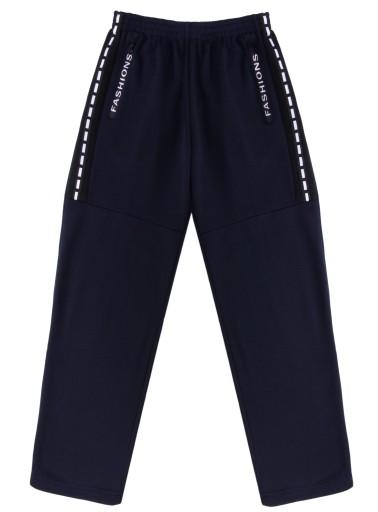 Spodnie dresowe męskie ciepłe,lampas M granat 10252206686 Odzież Męska Spodnie PU VFMTPU-2