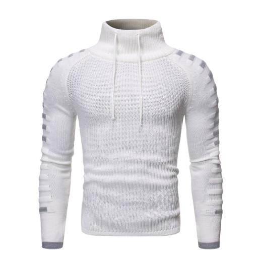 it Sweter męski z wysokim dekoltem Dzianina męska 10635595714 Odzież Męska Swetry YU NILCYU-2